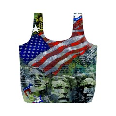 Usa United States Of America Images Independence Day Full Print Recycle Bags (m)