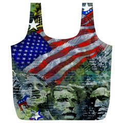 Usa United States Of America Images Independence Day Full Print Recycle Bags (l)