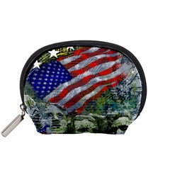 Usa United States Of America Images Independence Day Accessory Pouches (small)