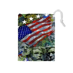 Usa United States Of America Images Independence Day Drawstring Pouches (medium)