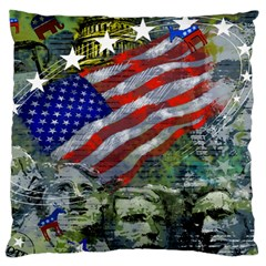Usa United States Of America Images Independence Day Large Flano Cushion Case (one Side)