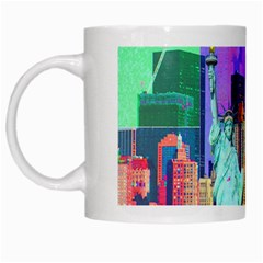 New York City The Statue Of Liberty White Mugs