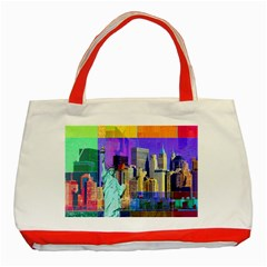 New York City The Statue Of Liberty Classic Tote Bag (red)