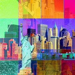 New York City The Statue Of Liberty Canvas 16  X 16