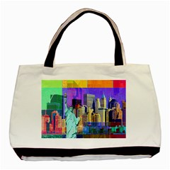 New York City The Statue Of Liberty Basic Tote Bag (two Sides)