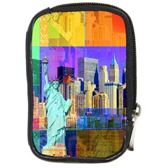 New York City The Statue Of Liberty Compact Camera Cases