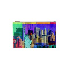 New York City The Statue Of Liberty Cosmetic Bag (small)