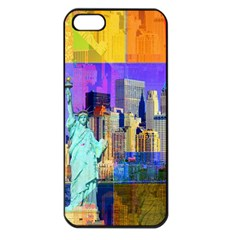 New York City The Statue Of Liberty Apple Iphone 5 Seamless Case (black)