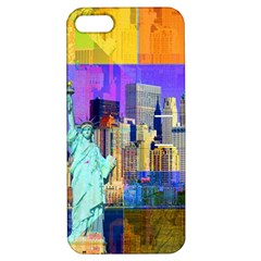 New York City The Statue Of Liberty Apple Iphone 5 Hardshell Case With Stand