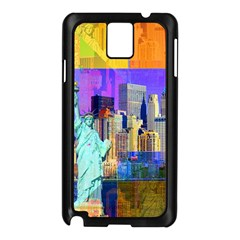 New York City The Statue Of Liberty Samsung Galaxy Note 3 N9005 Case (black)