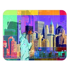 New York City The Statue Of Liberty Double Sided Flano Blanket (large)