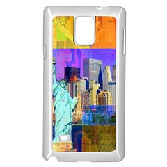 New York City The Statue Of Liberty Samsung Galaxy Note 4 Case (white)