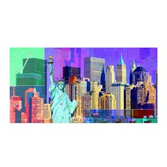 New York City The Statue Of Liberty Satin Wrap