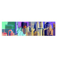 New York City The Statue Of Liberty Satin Scarf (oblong)