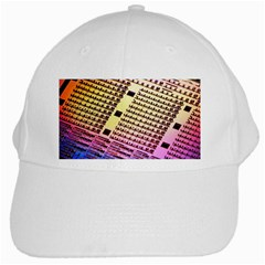 Optics Electronics Machine Technology Circuit Electronic Computer Technics Detail Psychedelic Abstra White Cap