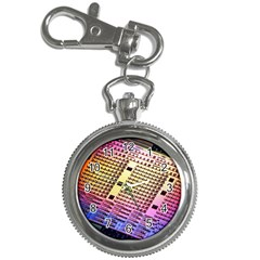 Optics Electronics Machine Technology Circuit Electronic Computer Technics Detail Psychedelic Abstra Key Chain Watches
