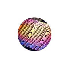 Optics Electronics Machine Technology Circuit Electronic Computer Technics Detail Psychedelic Abstra Golf Ball Marker (10 Pack)