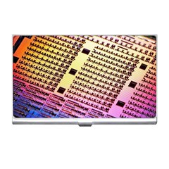 Optics Electronics Machine Technology Circuit Electronic Computer Technics Detail Psychedelic Abstra Business Card Holders