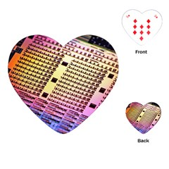 Optics Electronics Machine Technology Circuit Electronic Computer Technics Detail Psychedelic Abstra Playing Cards (heart)