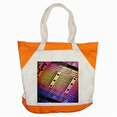 Optics Electronics Machine Technology Circuit Electronic Computer Technics Detail Psychedelic Abstra Accent Tote Bag