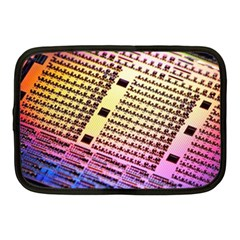 Optics Electronics Machine Technology Circuit Electronic Computer Technics Detail Psychedelic Abstra Netbook Case (medium)