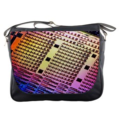 Optics Electronics Machine Technology Circuit Electronic Computer Technics Detail Psychedelic Abstra Messenger Bags