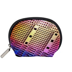 Optics Electronics Machine Technology Circuit Electronic Computer Technics Detail Psychedelic Abstra Accessory Pouches (small)