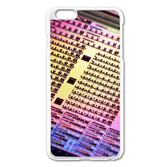 Optics Electronics Machine Technology Circuit Electronic Computer Technics Detail Psychedelic Abstra Apple Iphone 6 Plus/6s Plus Enamel White Case