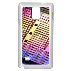 Optics Electronics Machine Technology Circuit Electronic Computer Technics Detail Psychedelic Abstra Samsung Galaxy Note 4 Case (white)