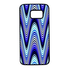 Waves Blue Samsung Galaxy S7 Black Seamless Case
