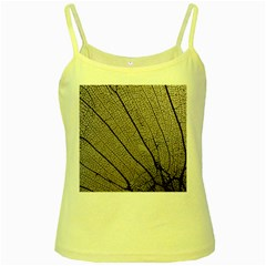 Sea Fan Coral Intricate Patterns Yellow Spaghetti Tank