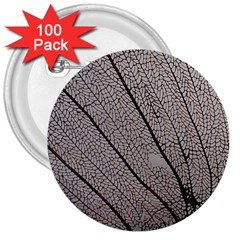 Sea Fan Coral Intricate Patterns 3  Buttons (100 Pack)