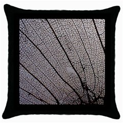 Sea Fan Coral Intricate Patterns Throw Pillow Case (black)
