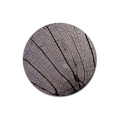 Sea Fan Coral Intricate Patterns Rubber Coaster (round)
