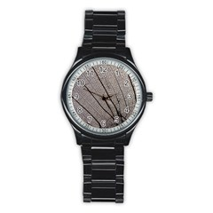Sea Fan Coral Intricate Patterns Stainless Steel Round Watch