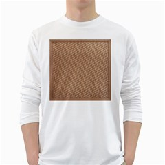 Tooling Patterns White Long Sleeve T Shirts