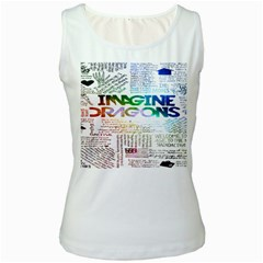 Imagine Dragons Quotes Women s White Tank Top