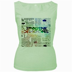 Imagine Dragons Quotes Women s Green Tank Top