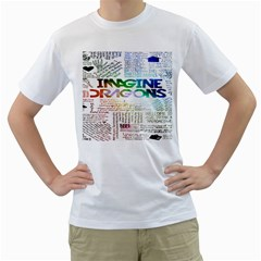 Imagine Dragons Quotes Men s T Shirt (white) (two Sided)