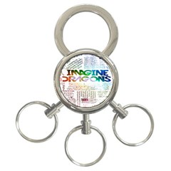 Imagine Dragons Quotes 3 Ring Key Chains