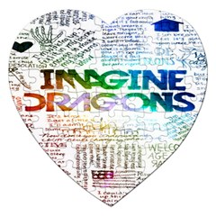 Imagine Dragons Quotes Jigsaw Puzzle (heart)