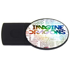 Imagine Dragons Quotes Usb Flash Drive Oval (4 Gb)