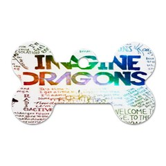 Imagine Dragons Quotes Dog Tag Bone (one Side)