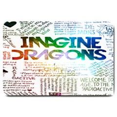 Imagine Dragons Quotes Large Doormat