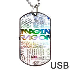 Imagine Dragons Quotes Dog Tag Usb Flash (two Sides)