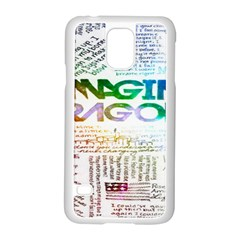 Imagine Dragons Quotes Samsung Galaxy S5 Case (white)