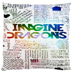 Imagine Dragons Quotes Large Flano Cushion Case (one Side)