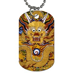 Chinese Dragon Pattern Dog Tag (one Side)