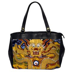 Chinese Dragon Pattern Office Handbags (2 Sides)