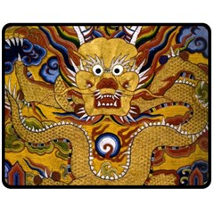 Chinese Dragon Pattern Fleece Blanket (medium)